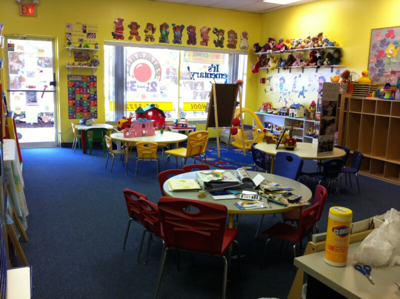 Interior view of the pre-school classroom